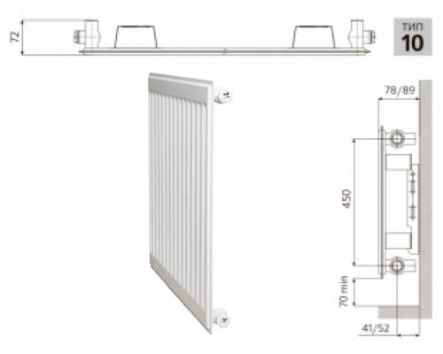 Радиатор PRADO Classic 10x500x1600